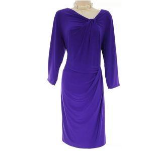 16W 1X▪️RALPH LAUREN PURPLE DRAPED DRESS Plus Size